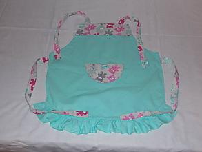 Detské oblečenie - Detská zásterka mentolová - 10067911_
