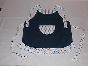 Detské oblečenie - Detská zásterka modrá, bodkovaná - 10068029_