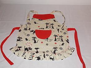 Detské oblečenie - Detská zásterka mačičková - 10068089_