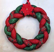Dekorácie - Vianočný textilný veniec - 10068235_
