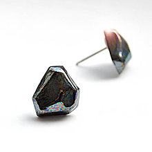 Náušnice - Náušnice černé Krystalix / perleťový vzhľad - 10070444_