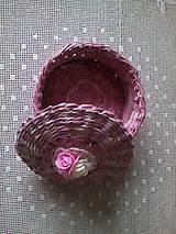 Košíky - Ružový košík s vrchnákom - 10070087_