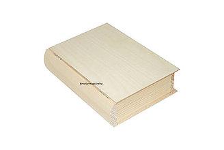 Polotovary - Krabica kniha väčšia II z masívu - 10067897_