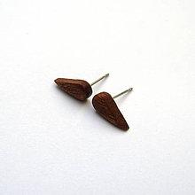 Náušnice - Mahagónové mini slzičky - 10069893_