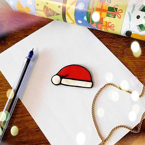 ★ Vianočná magnetka cartoon (Santa čapica)