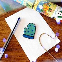 Magnetky - ★ Vianočná magnetka cartoon (puntíková rukavica) - 10066073_
