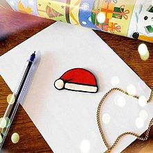 Magnetky - ★ Vianočná magnetka cartoon (Santa čapica) - 10066077_