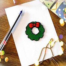 Magnetky - ★ Vianočná magnetka cartoon (vianočný veniec) - 10066078_