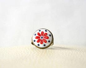 Prstene - Folk prsteň biely - 10074313_