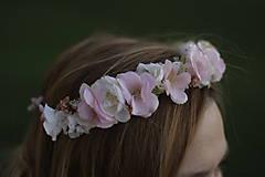 Ozdoby do vlasov - Venček bledo ružový - 10074357_