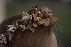 Ozdoby do vlasov - Venček vo farbách jesene - 10074409_