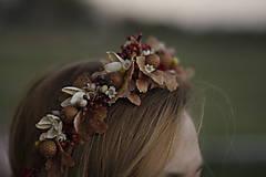 Ozdoby do vlasov - Venček vo farbách jesene - 10074411_