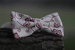 Doplnky - Motýlik červené kvety - 10075417_