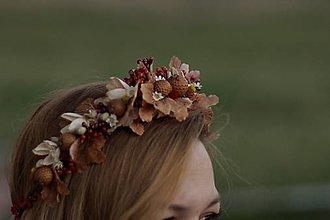 Ozdoby do vlasov - Venček vo farbách jesene - 10074485_