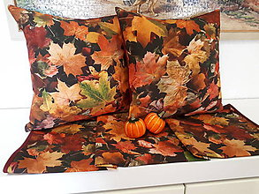 Úžitkový textil - Obliečky na vankuše (Jesenný set) - 10075542_