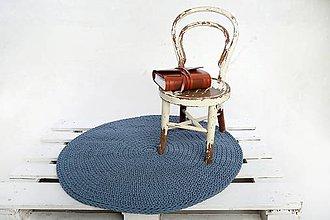 Úžitkový textil - Koberček okrúhly (Modrá denim) - 10073841_