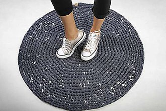 Úžitkový textil - Koberček okrúhly (Jeans) - 10073905_