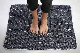 Úžitkový textil - Pletený koberec (Jeans) - 10073965_