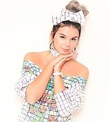 Šaty z bavlneného úpletu s originálnou ručnou maľbou.