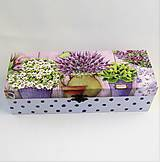 Krabičky - Drevená krabička levanduľová - 10074497_