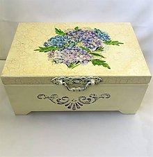Krabičky - Drevená šperkovnica -Hortenzia - 10074737_