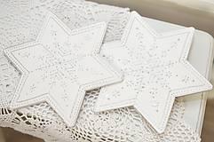 Dekorácie - Hviezda na vrcholec stromčeka strieborná - 10072555_