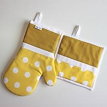 Úžitkový textil - rukavica Loli žltá - 10070663_