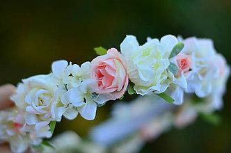 Ozdoby do vlasov - Svadobné ráno v záhrade ruží... - 10073720_