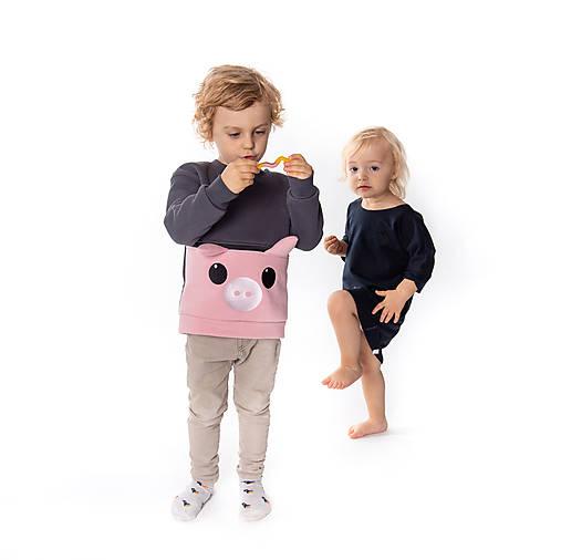 Detské oblečenie - Detská mikina Prasiatko - 10074951_