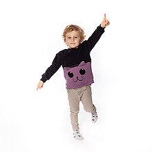 Detské oblečenie - Detská mikina Mačička - 10074781_