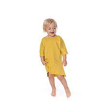 Detské oblečenie - Dievčenské šaty s vreckami Yellow/ dočasne vypredané - 10074870_