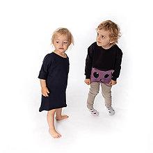 Detské oblečenie - Dievčenské šaty s vreckami Black - 10074900_
