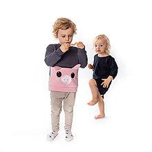 Detské oblečenie - Detská mikina Prasa - 10074951_