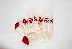 Ponožky folklórne makovička- bábätkovské