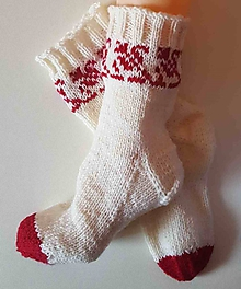 Obuv - Ponožky vlnené folklórne2- z certifikovanej ponožkovej priadze - 10074152_