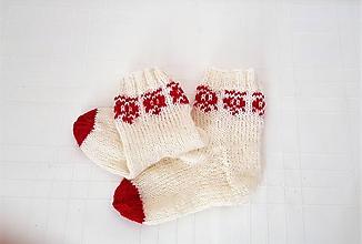 Topánočky - Ponožky folklórne makovička- bábätkovské - 10074761_