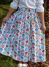 Sukne - Sukienka Krojové kvety pruhy - 10075221_