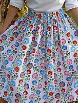 Sukne - Sukienka Krojové kvety pruhy - 10075223_