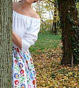 Sukne - Sukienka Krojové kvety pruhy - 10075225_