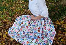 Sukne - Sukienka Krojové kvety pruhy - 10075234_