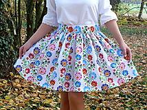 Sukne - Sukienka Krojové kvety pruhy - 10075235_