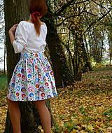 Sukne - Sukienka Krojové kvety pruhy - 10075240_