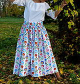 Sukne - Sukienka Krojové kvety pruhy - 10075256_