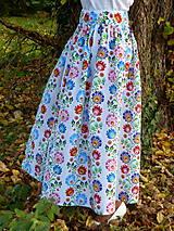 Sukne - Sukienka Krojové kvety pruhy - 10075259_