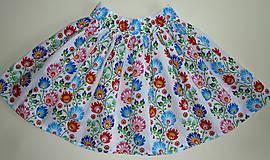 Sukne - Sukienka Krojové kvety pruhy - 10075278_