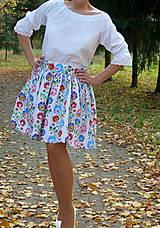 Sukne - Sukienka Krojové kvety pruhy - 10075288_