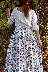 Sukne - Sukienka Krojové kvety pruhy - 10075348_