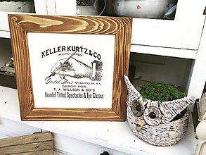 """Dekorácie - Starý rám """" Keller Kurtz """" - 10072996_"""