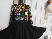 Šaty - FLORAL FOLK - šaty s kruhovou sukňou a vačkami - 10071075_