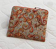 Taštičky - SAShEnka no. 175 - Paisley kašmírový vzor - taštička do kabelky - 10074790_